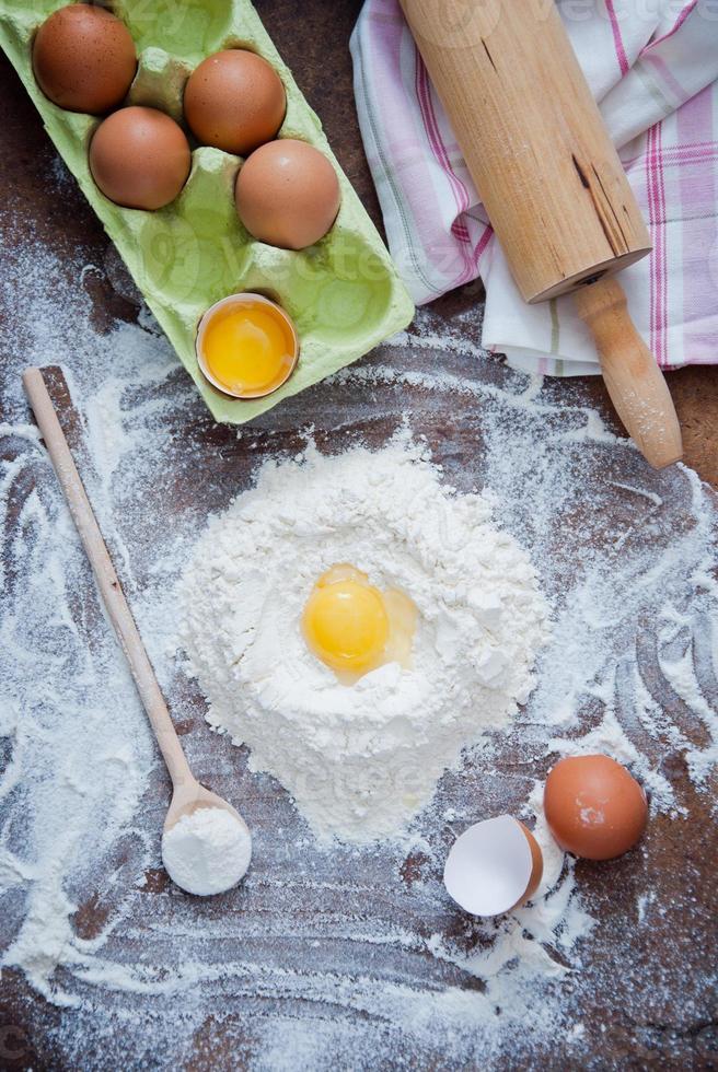 ingredientes de la receta de masa foto