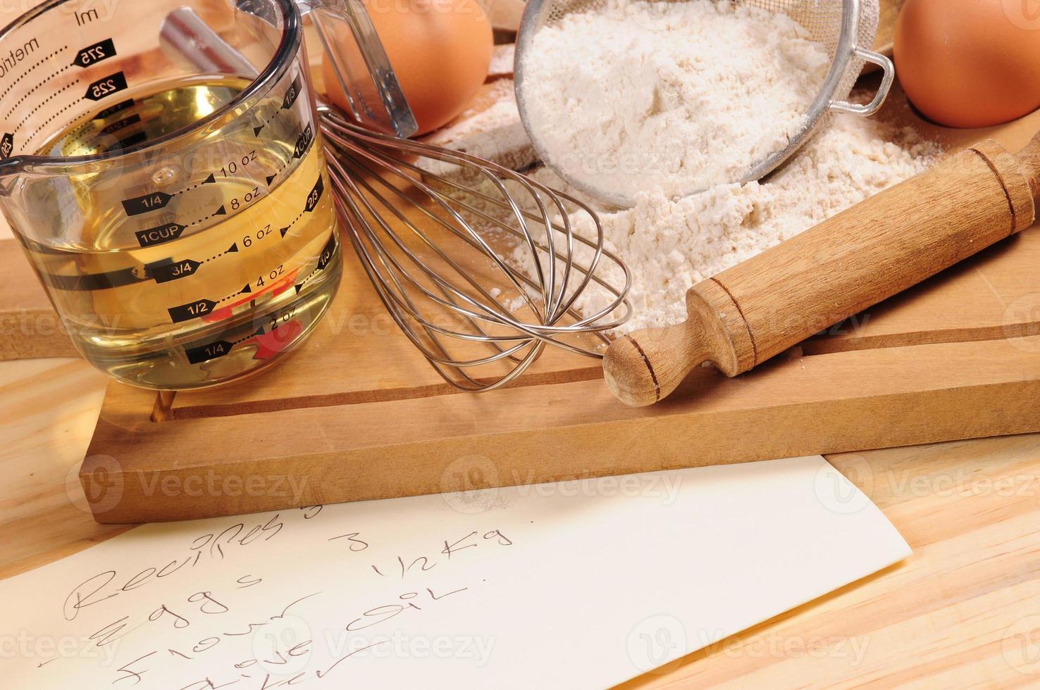 Baking recipe. photo