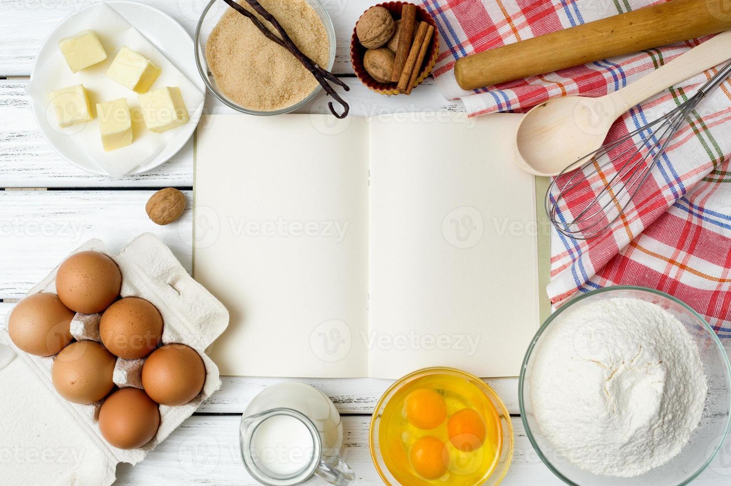 receptbok bakgrund foto