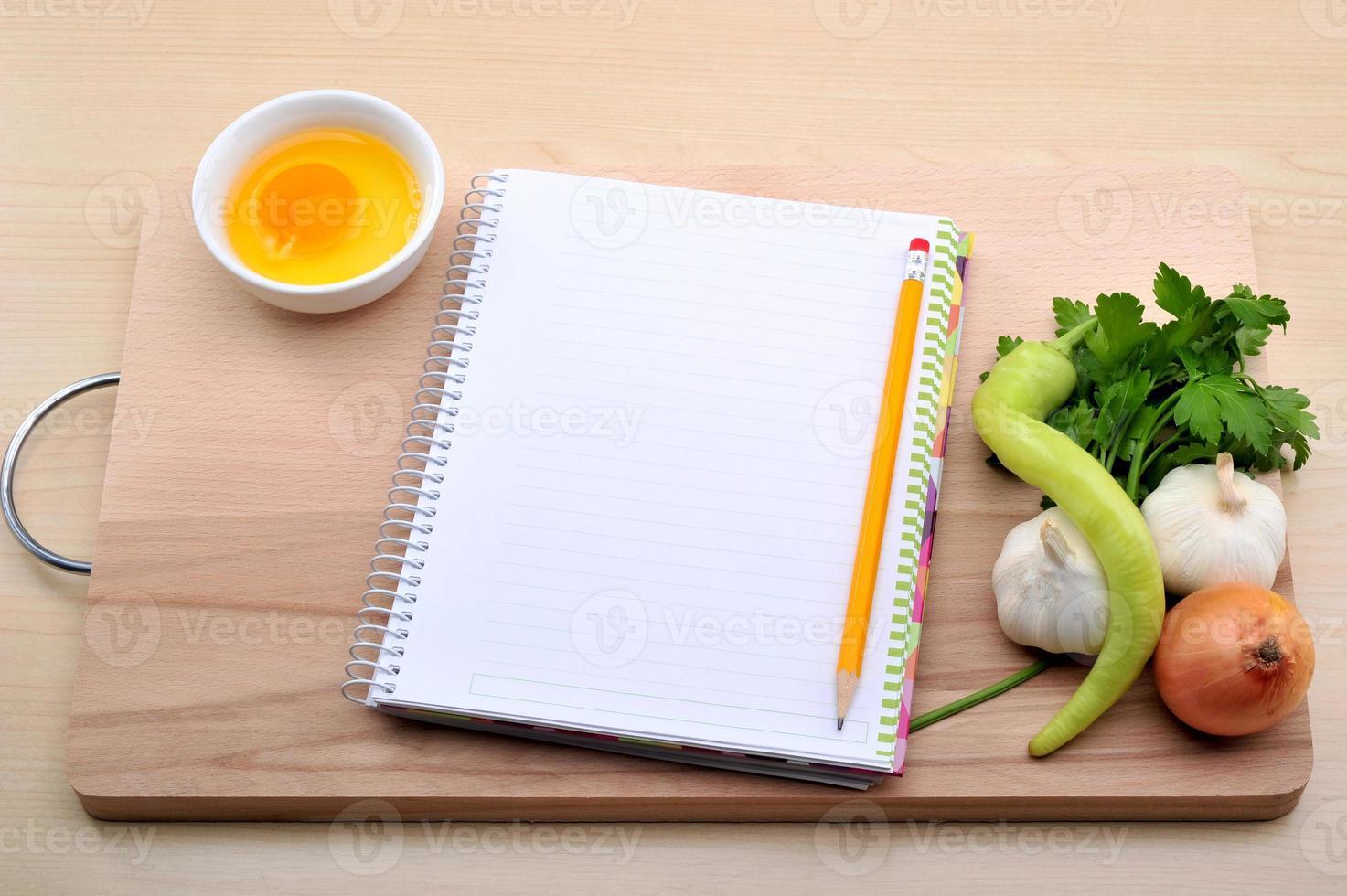 libro de recetas en blanco foto