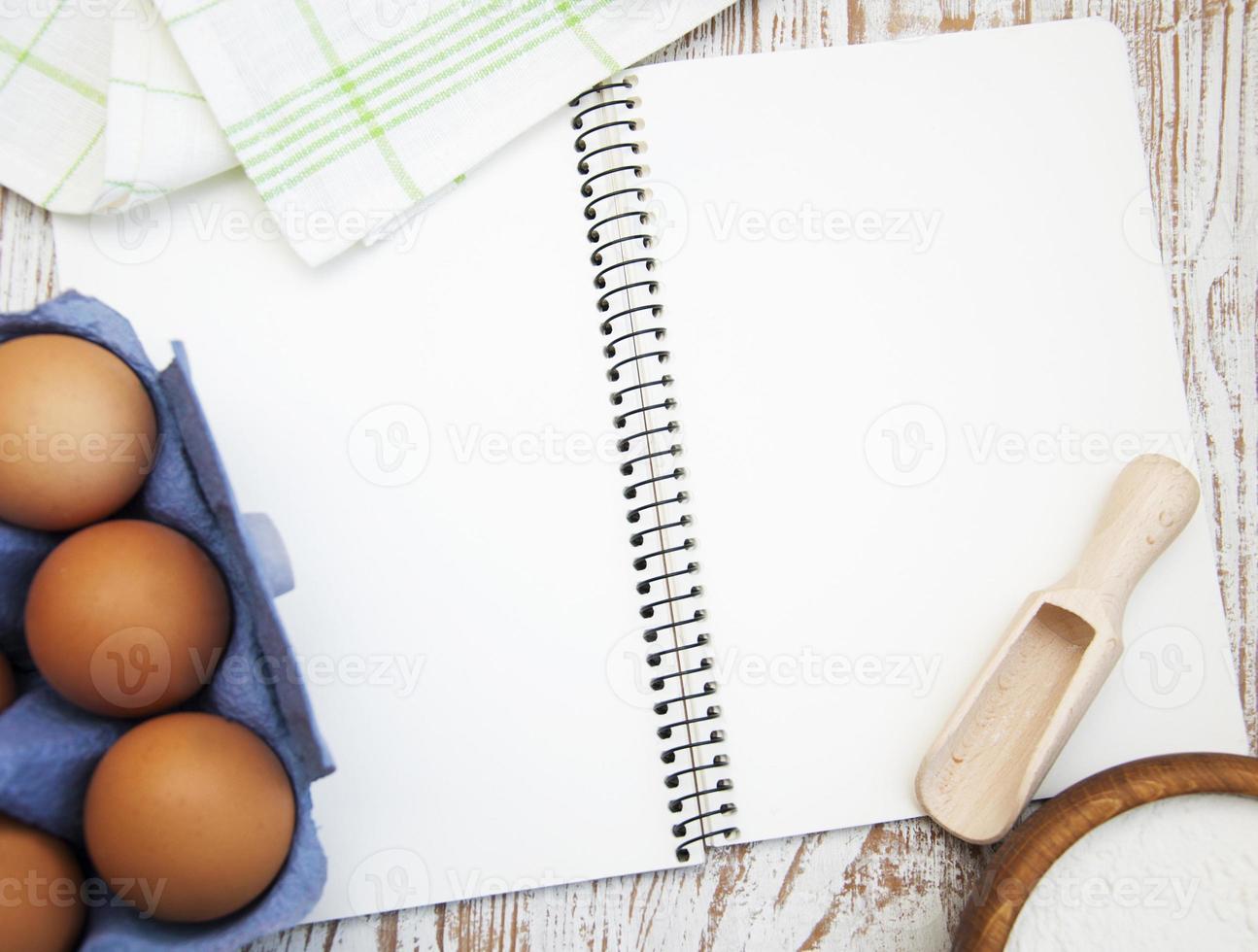 cuaderno para recetas foto