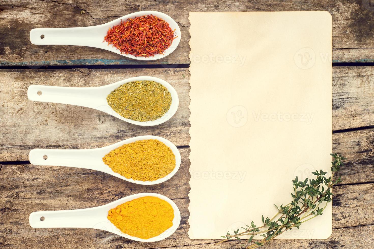 fond de recette d'épices. photo