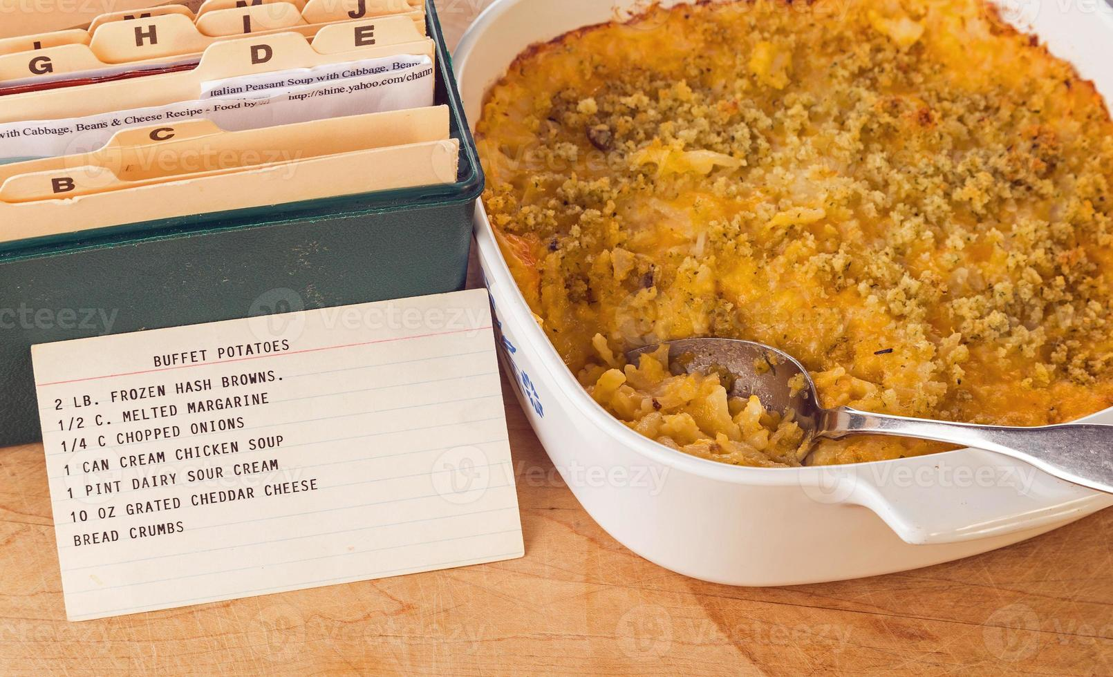 receta de cazuela de papa buffet foto