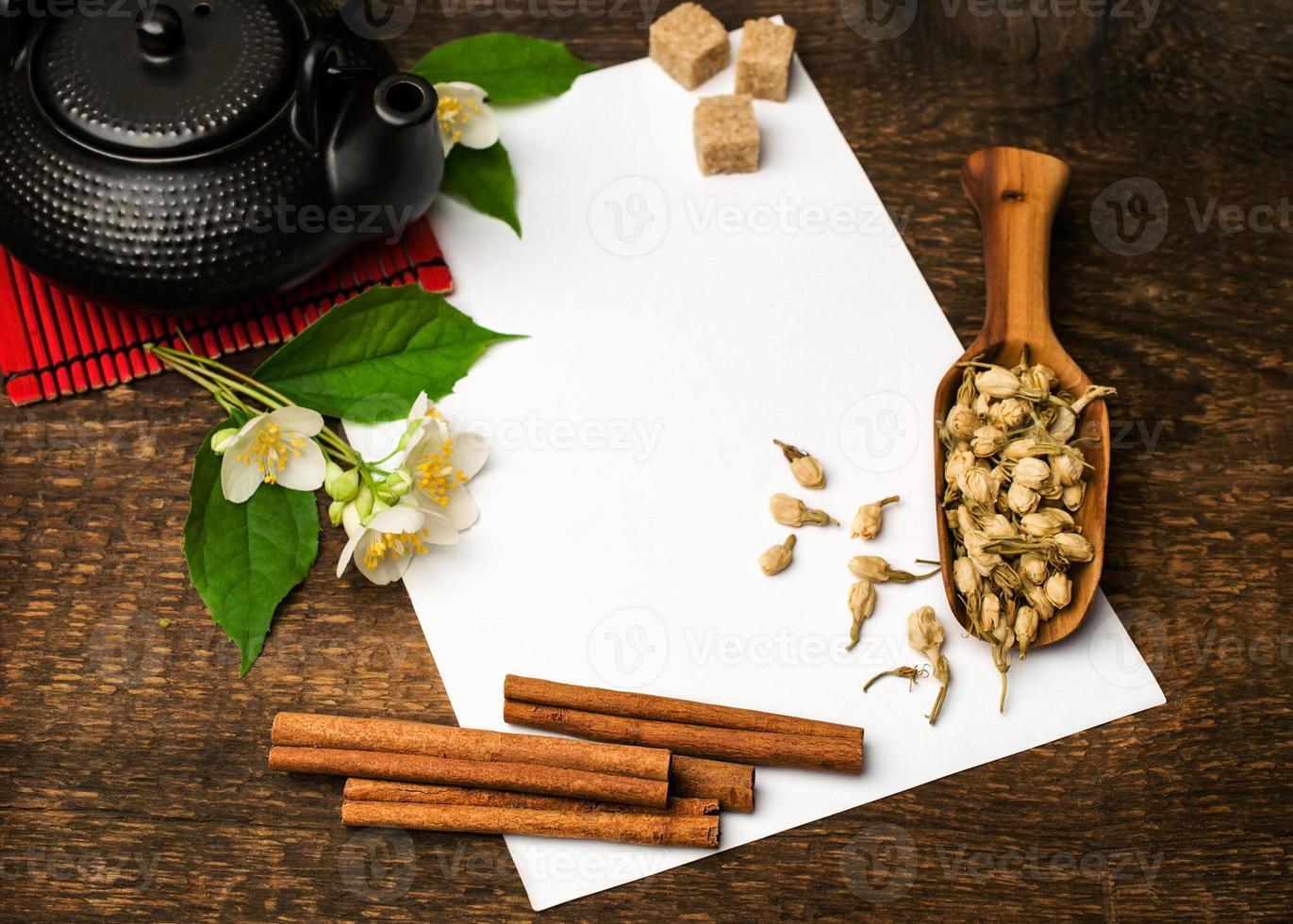 receta de té asiático foto