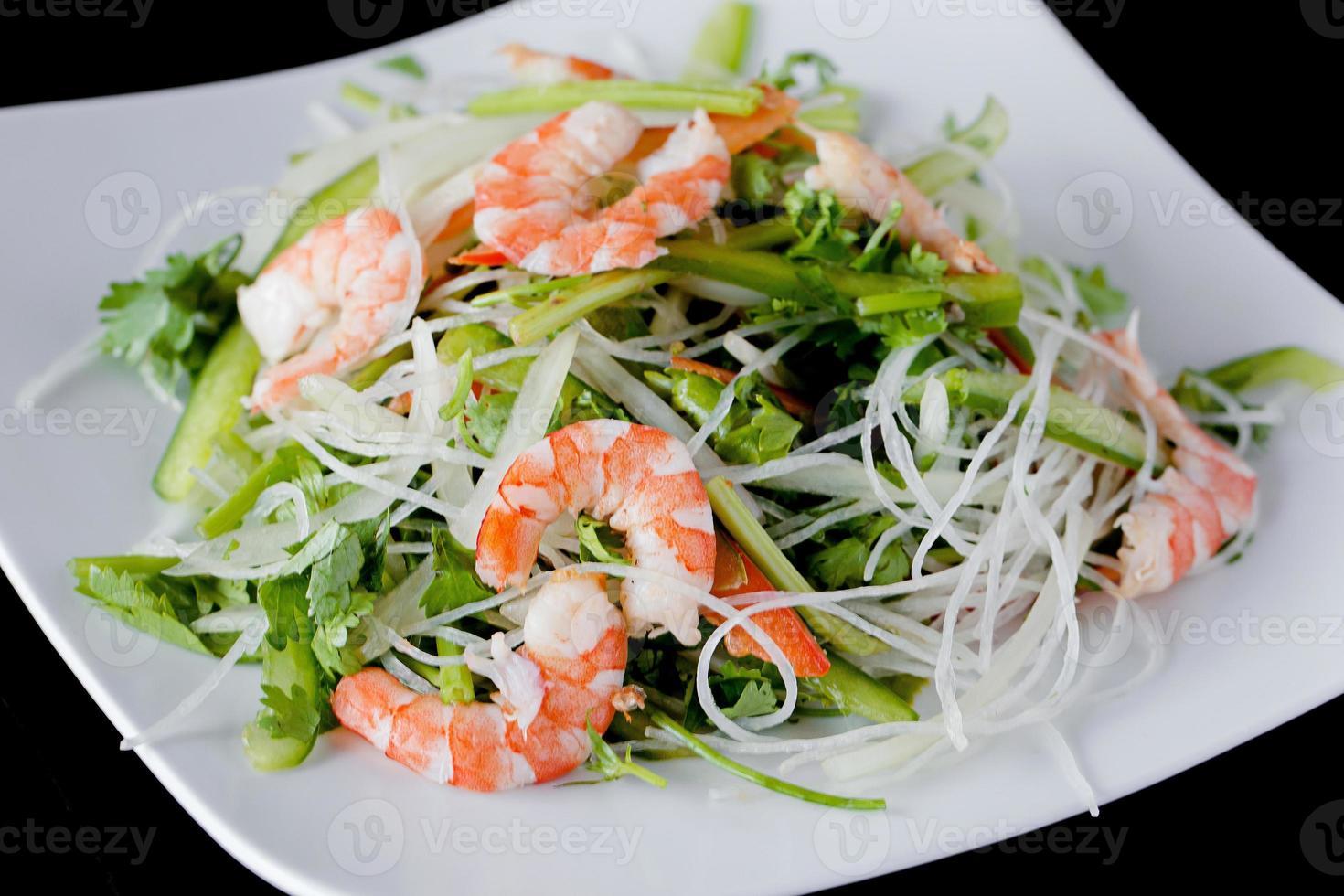 recetas de ensalada de camarones frescos foto