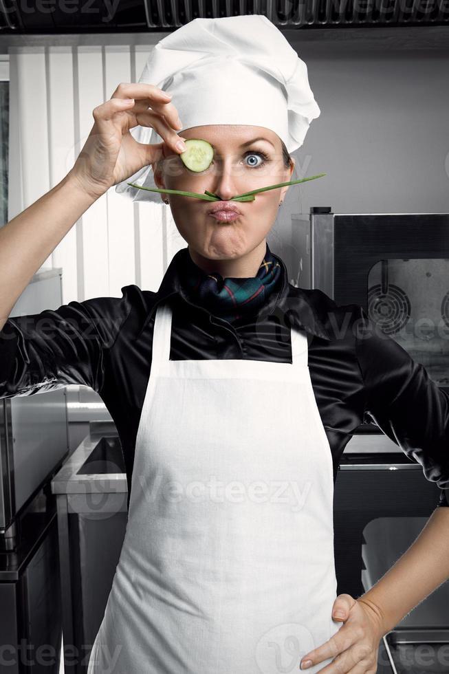 Woman Chef photo