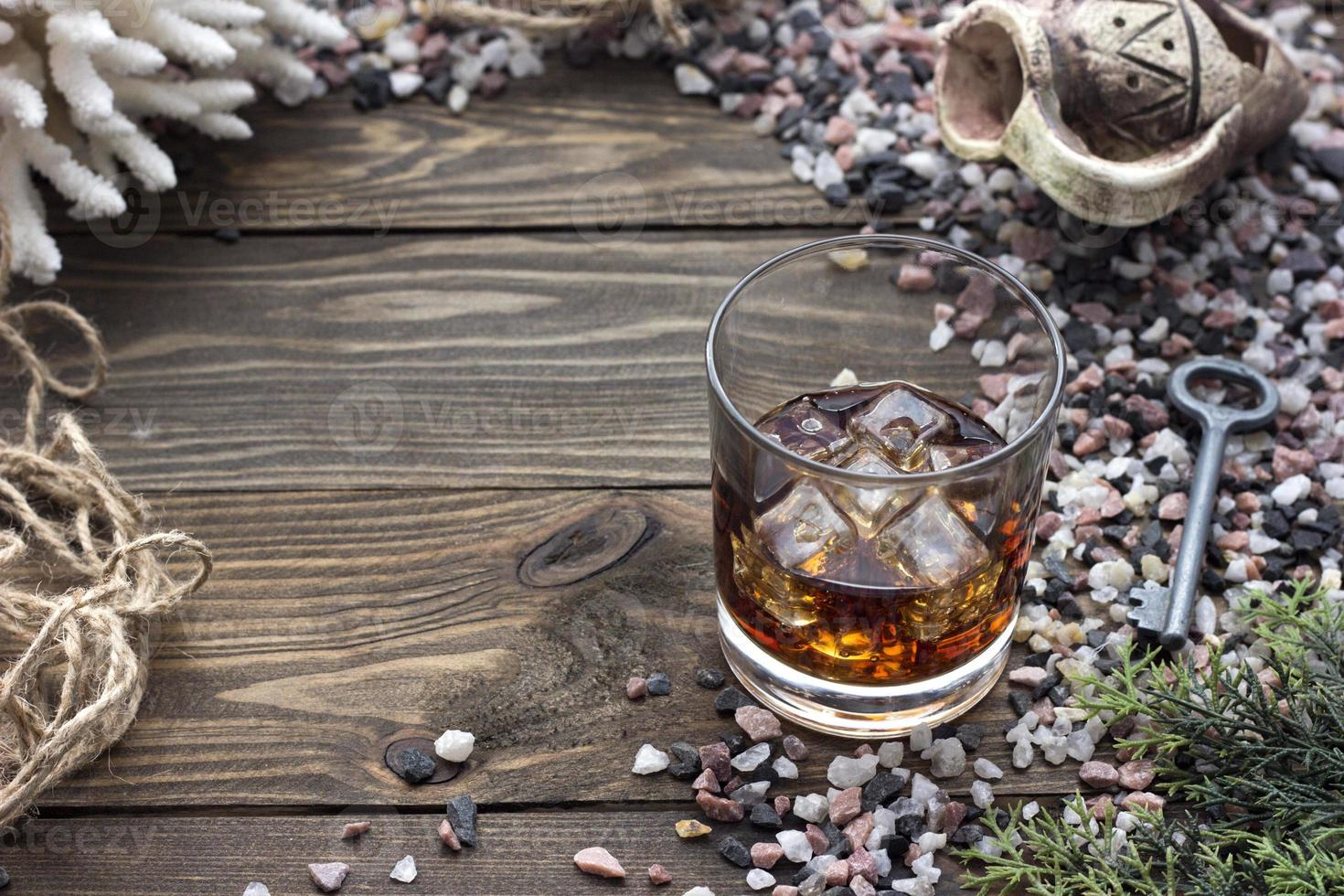 whiskey with ice photo
