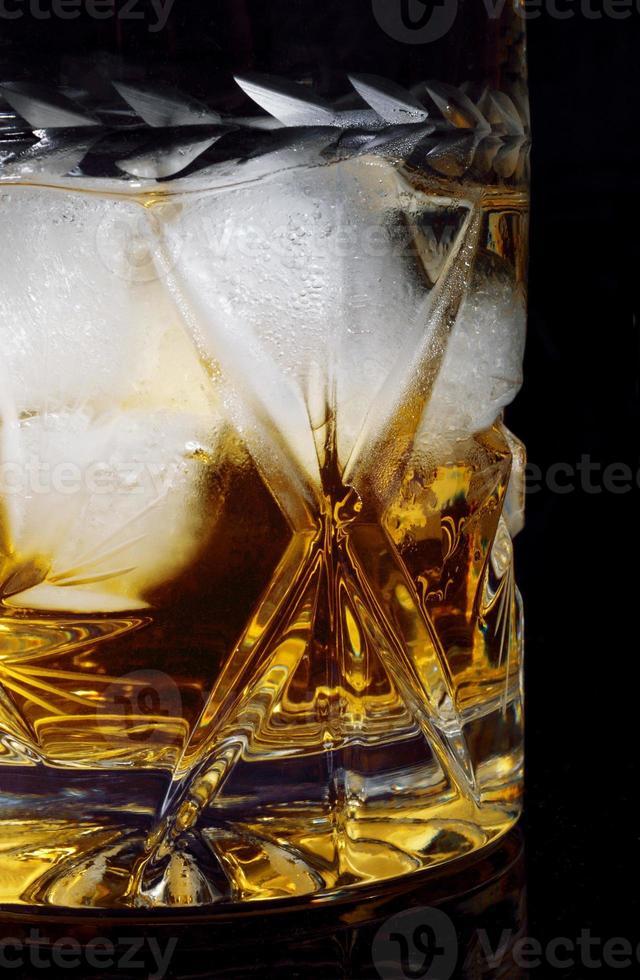 Whiskey on the rocks. photo