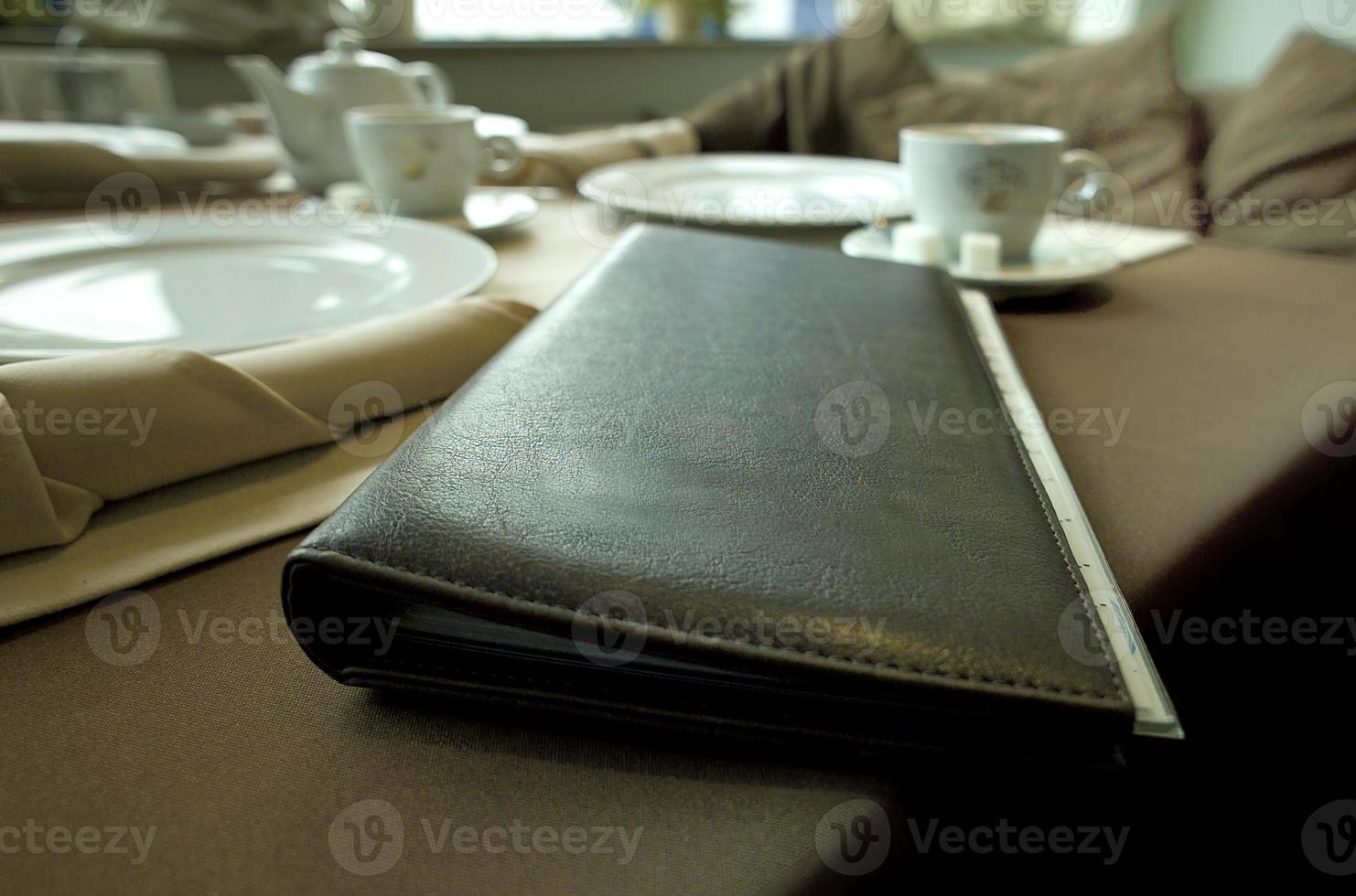livre de menu photo