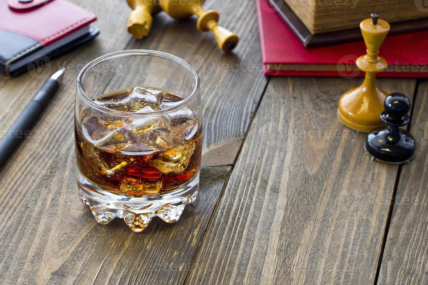whisky y ajedrez foto