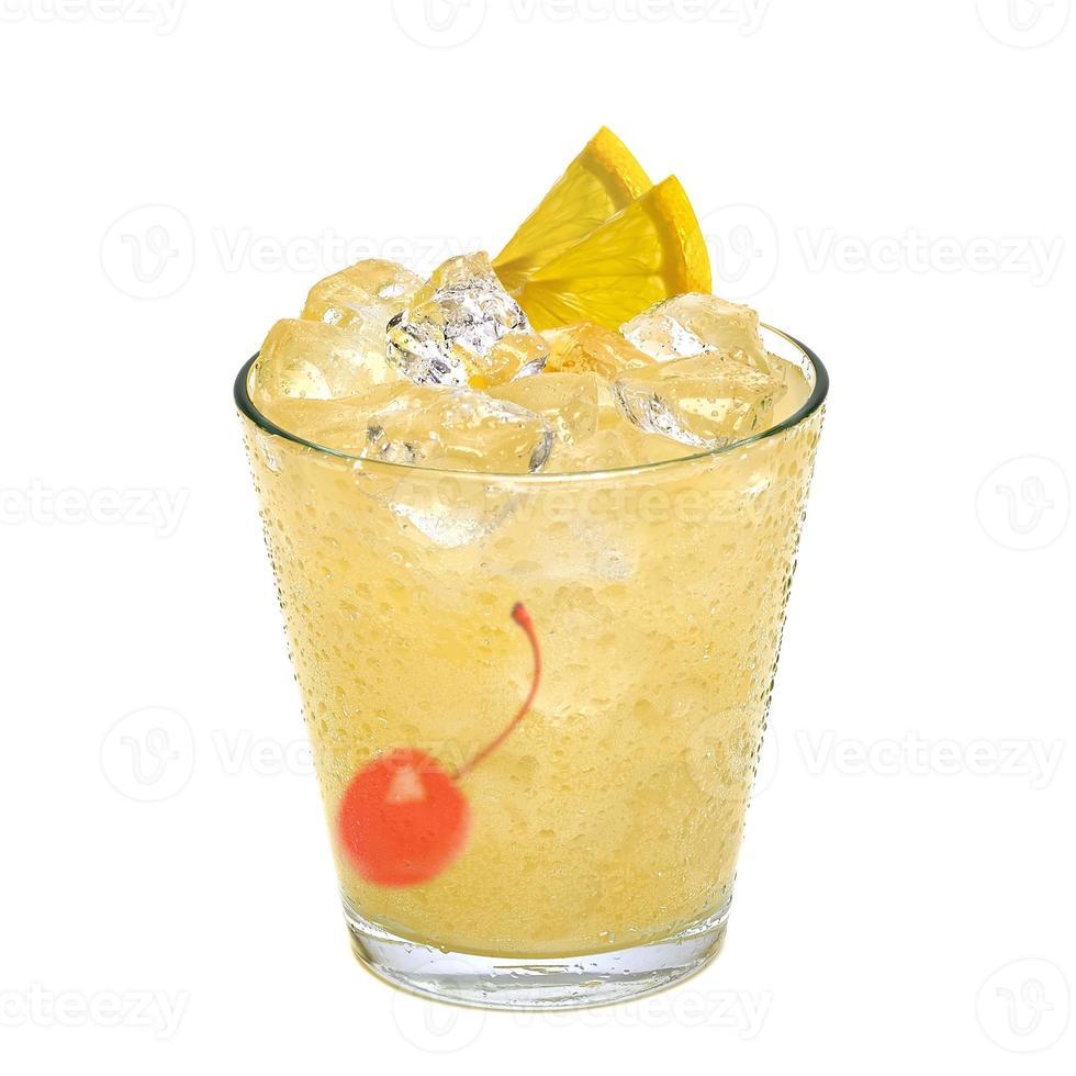 Whiskey sour cocktail photo