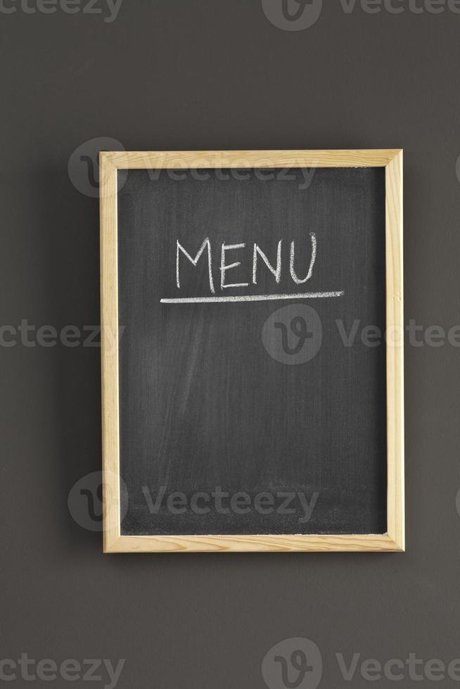 Empty menu board photo