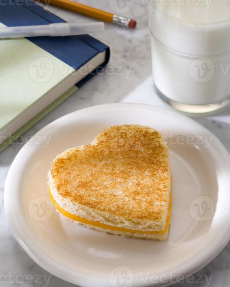 Sandwich de queso fundido foto