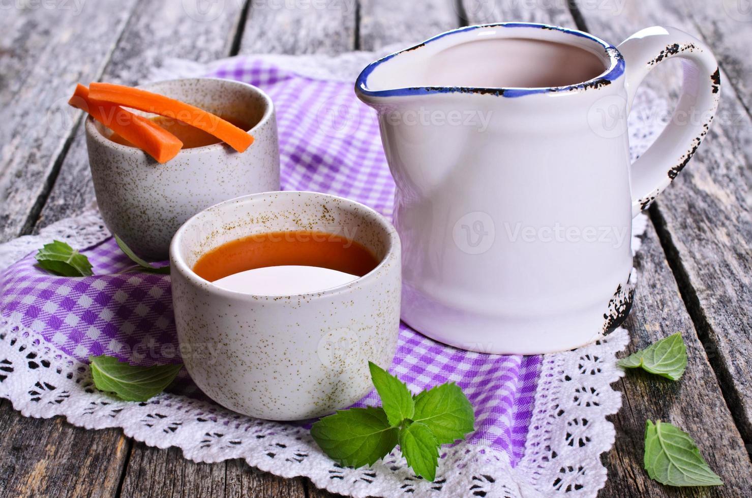 jugo de zanahoria foto