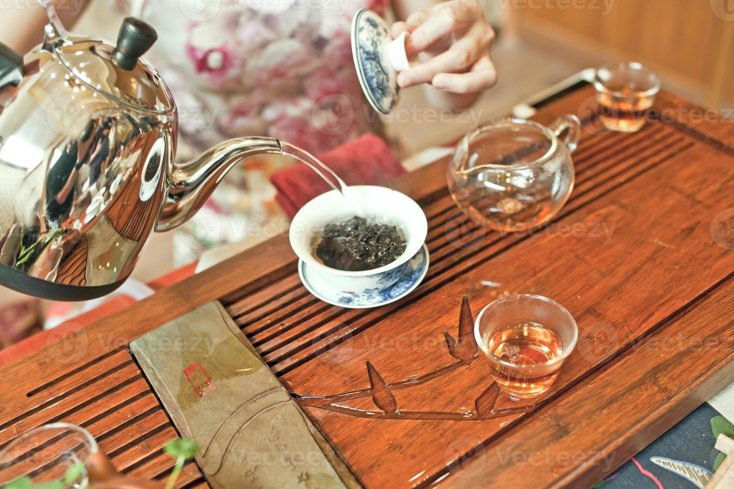 la ceremonia del té chino foto
