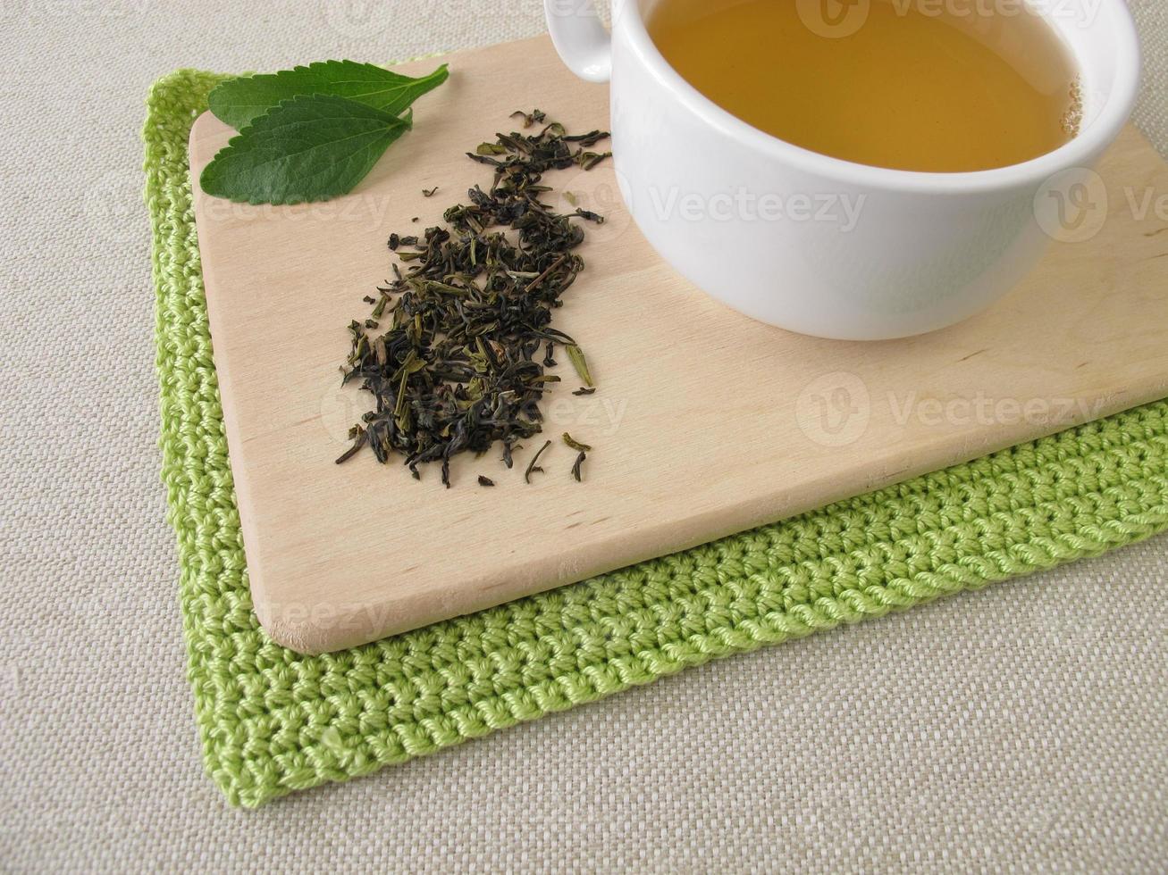 Darjeeling green tea and stevia photo