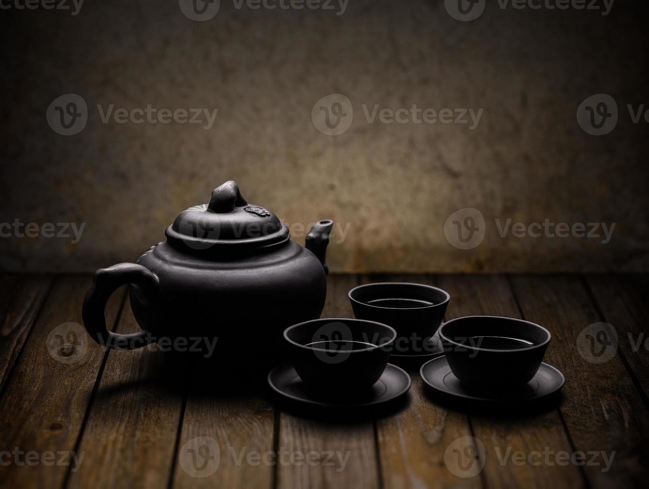 vajilla de té chino foto