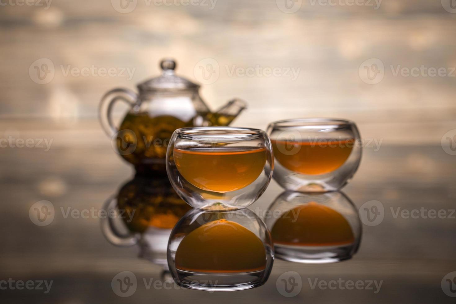 tazón de té foto