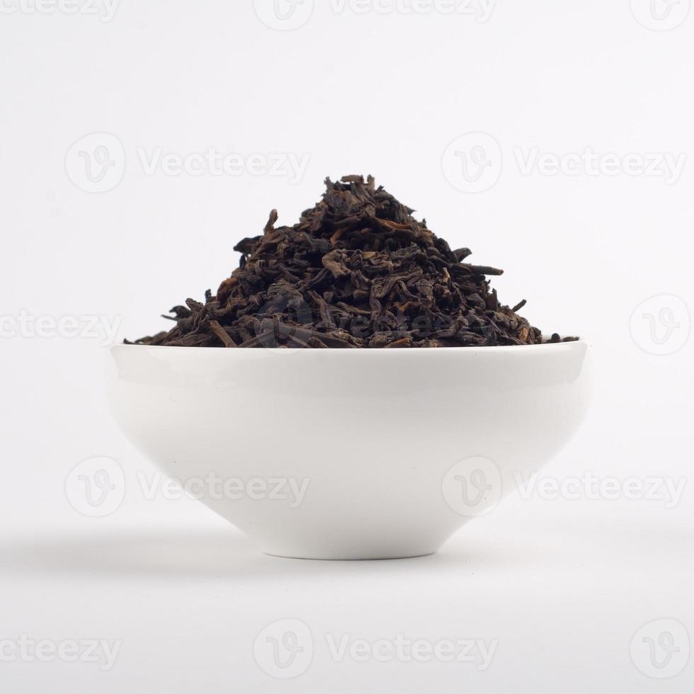hojas de té pu-erh foto