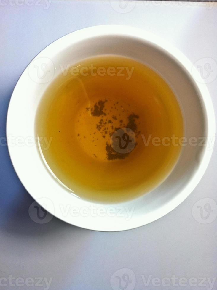 Chinese Oolong black tea top view photo