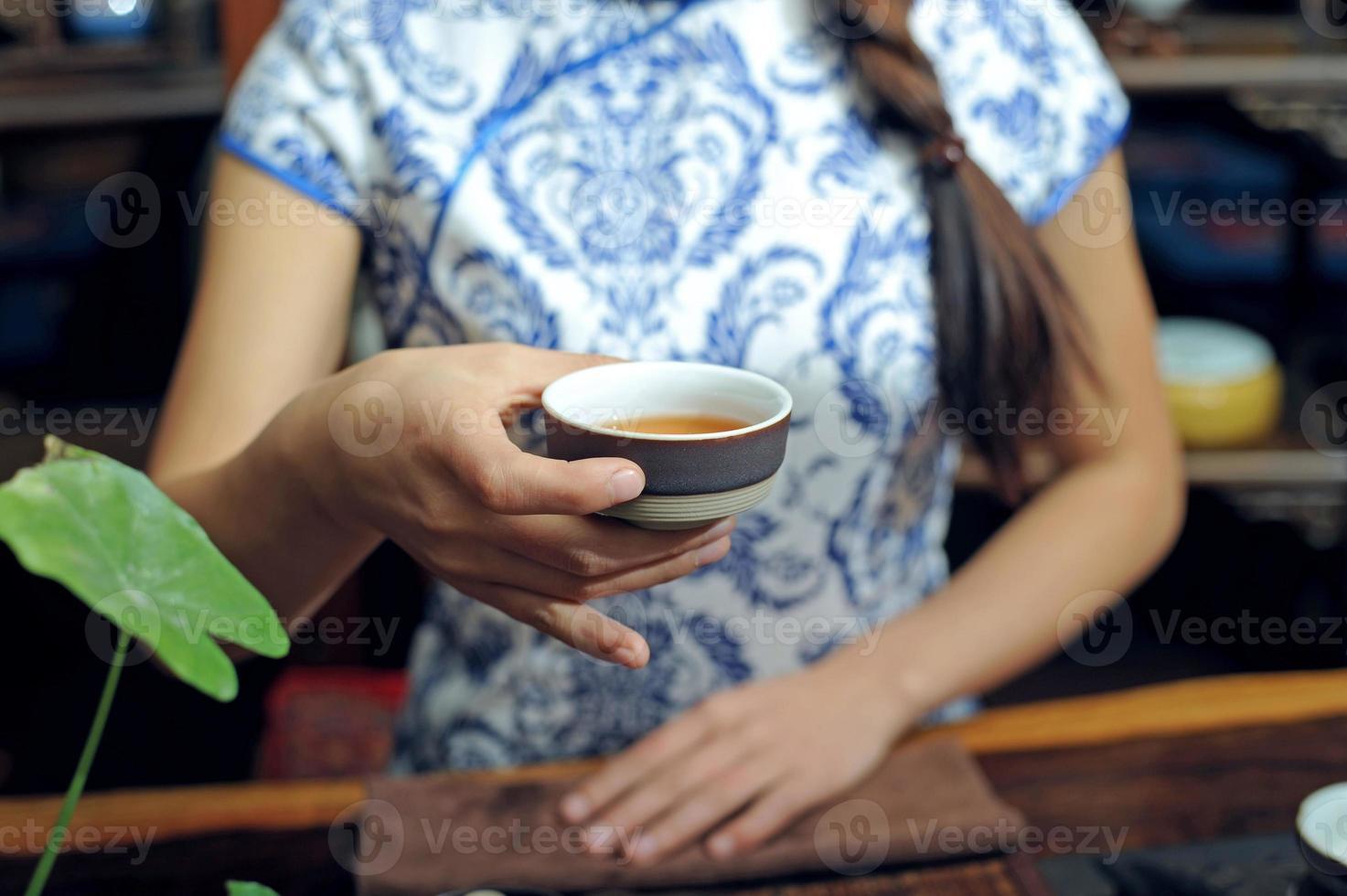 el té es la ceremonia del té foto