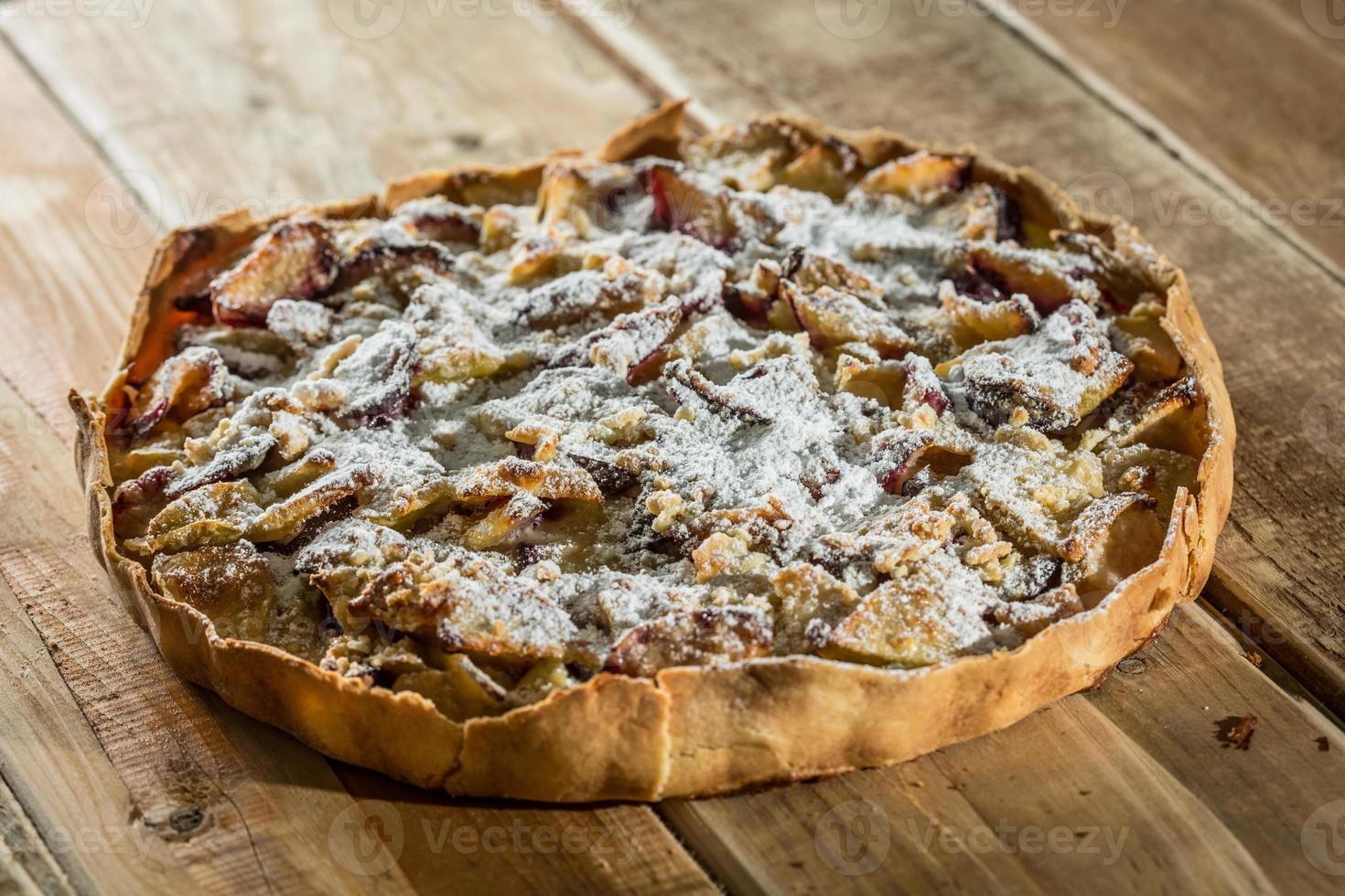 tarta de manzana orgánica casera foto
