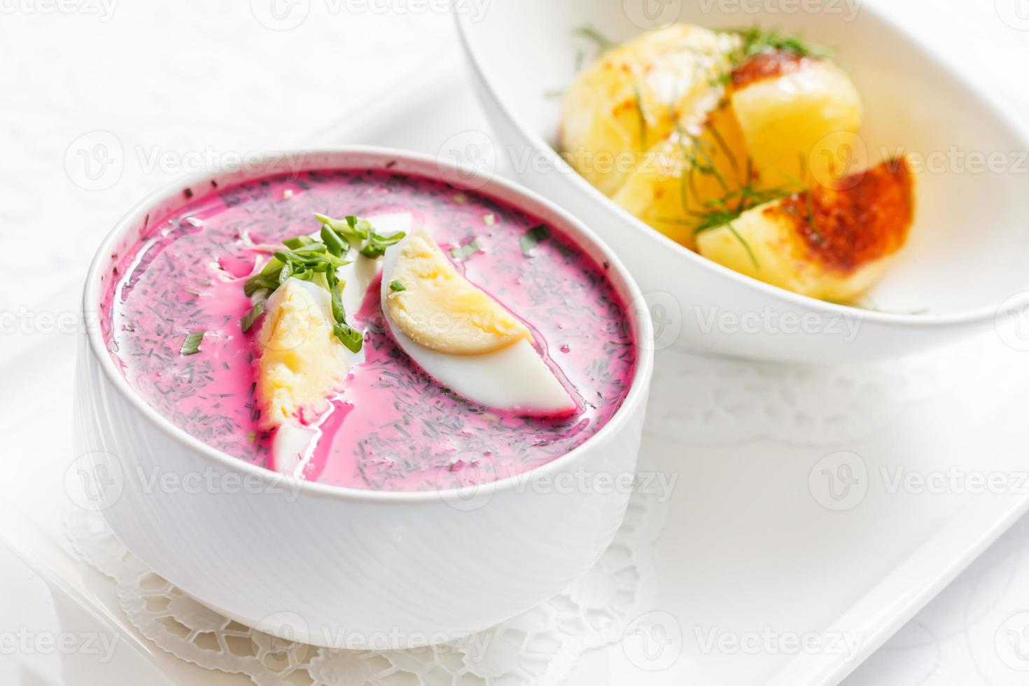 cold beetroot soup photo