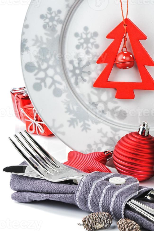 concepto de menú de navidad foto