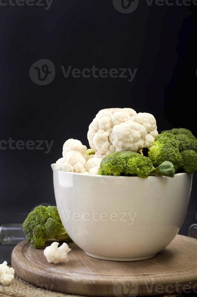 broccoli and cauliflower photo