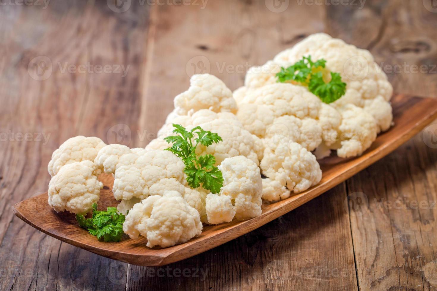 Fresh organic cauliflower photo