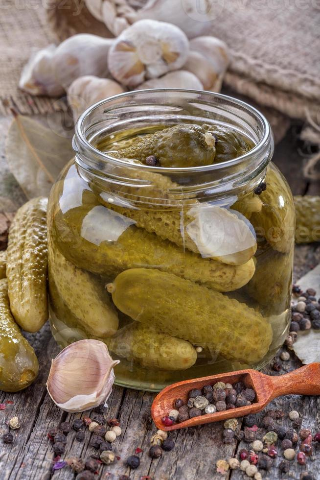 canned pickles photo