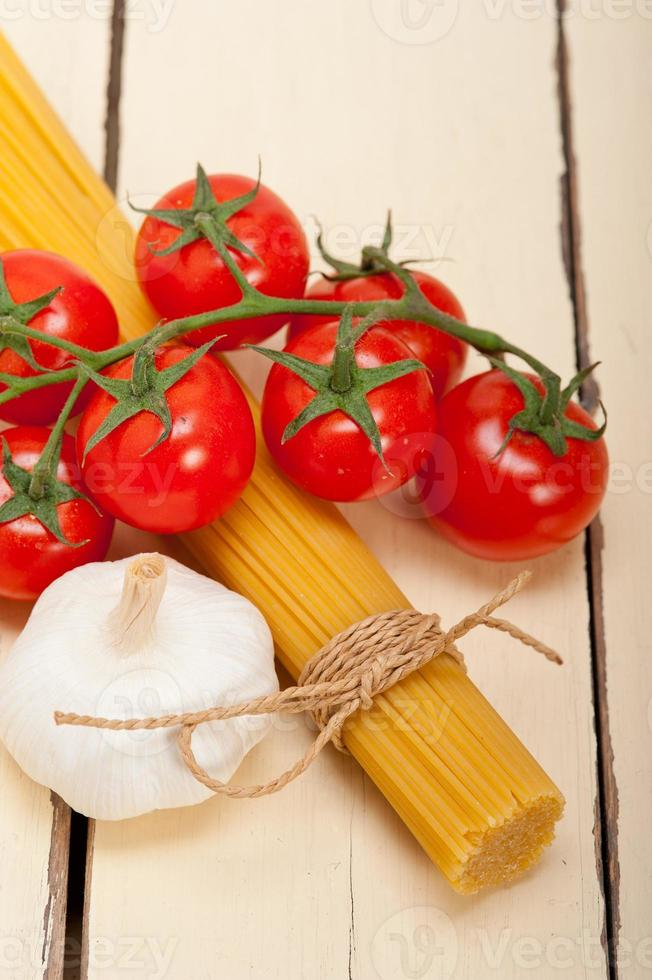 Italian basic pasta ingredients photo