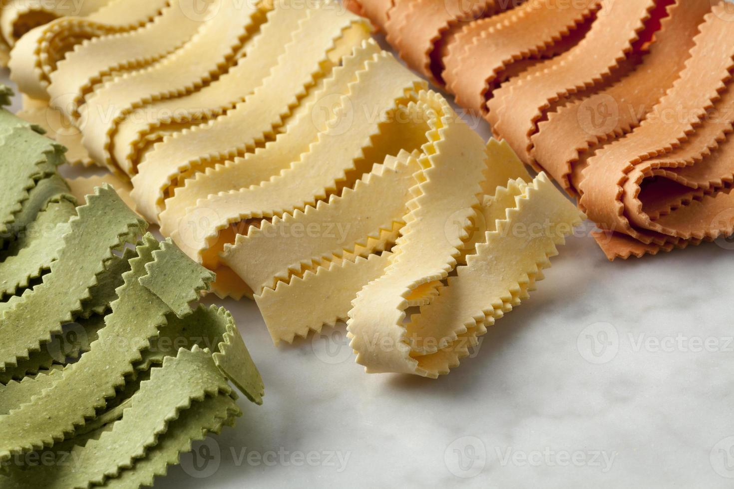Italian Pasta tricocolore photo
