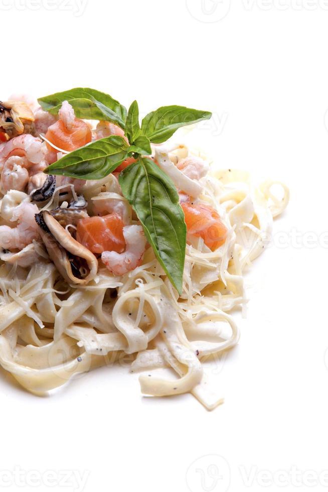 Seafood pasta photo