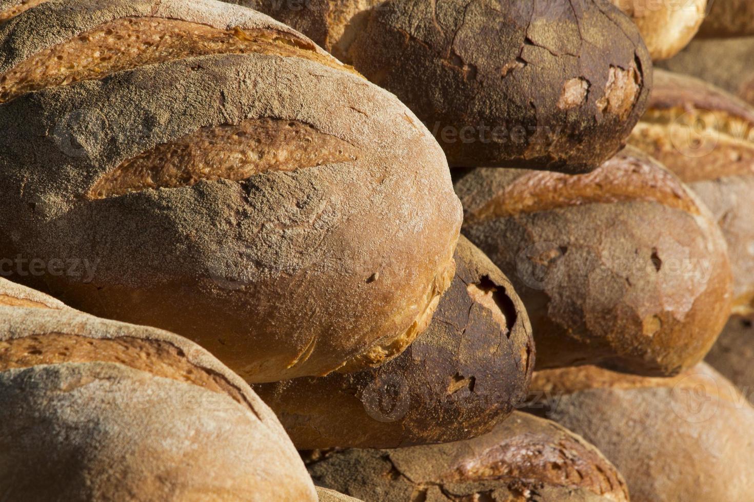 italian bread close up detail photo