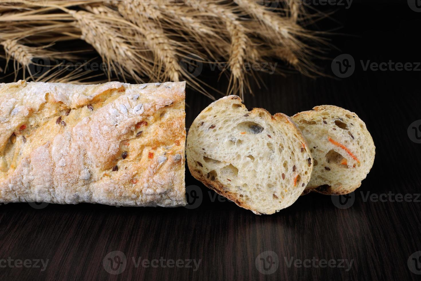 Baguette with cereals photo