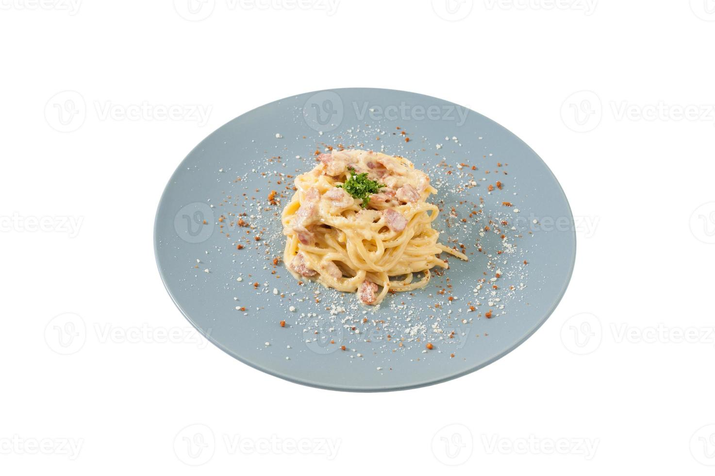 salsa blanca de pasta foto