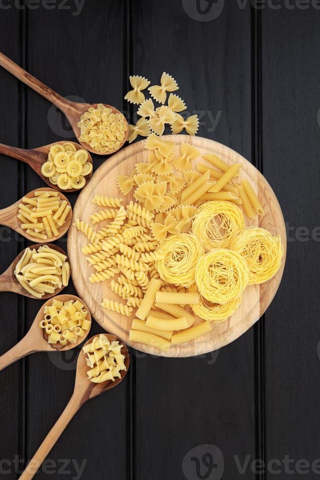 Pasta on Wood photo