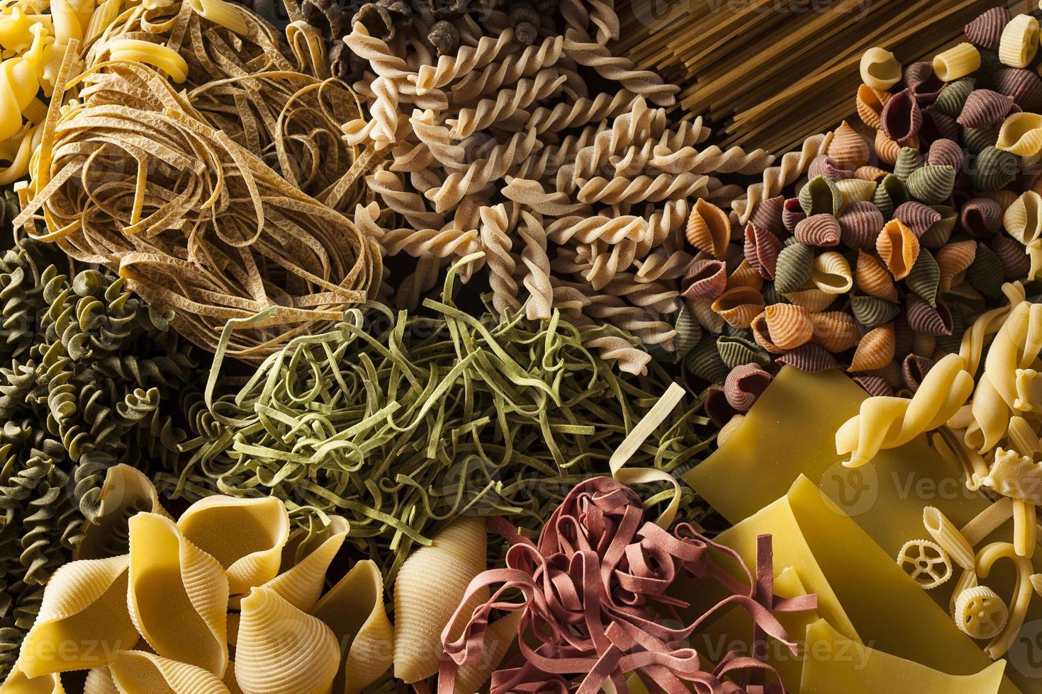 Assorted Homemade Dry Italian Pasta photo