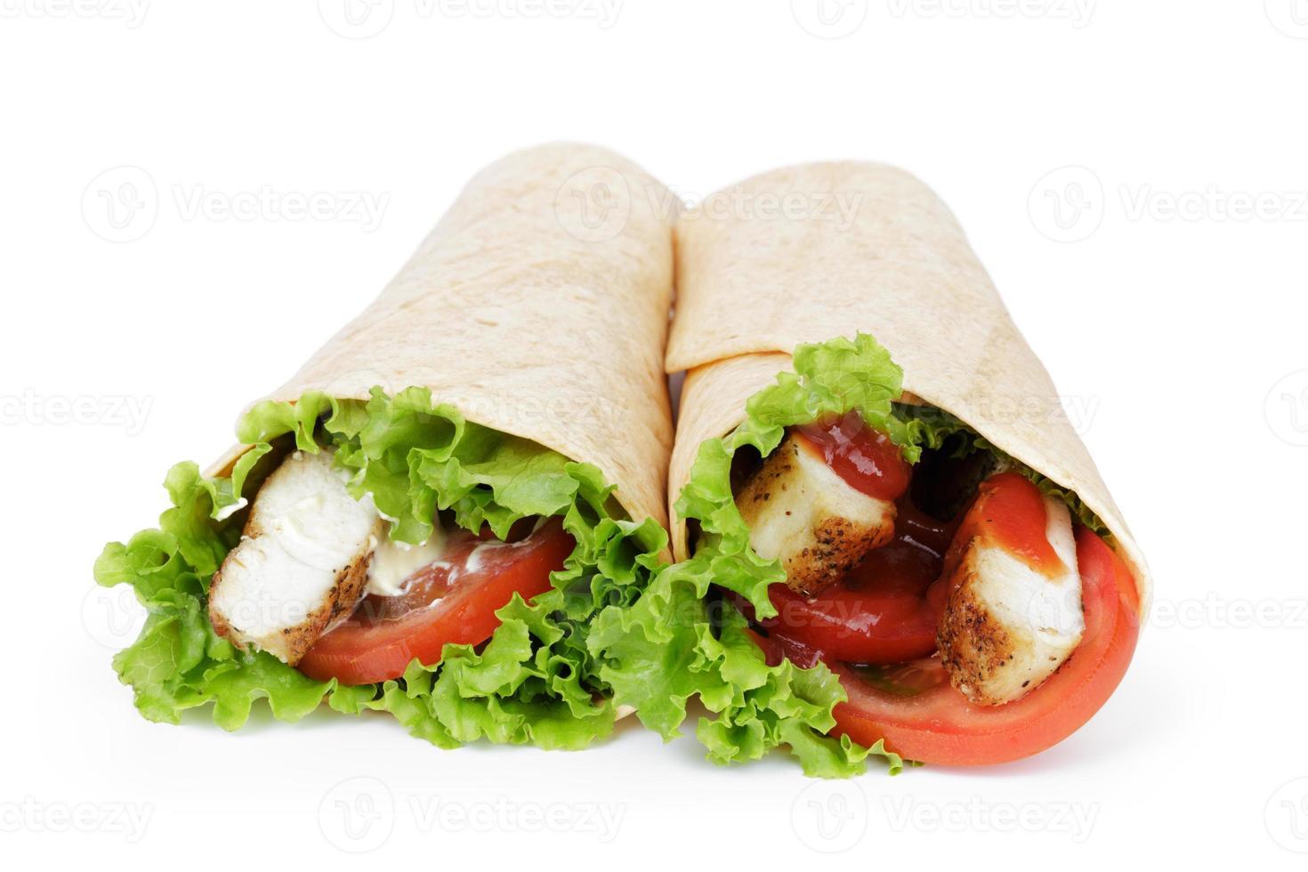 tortilla chicken wraps photo