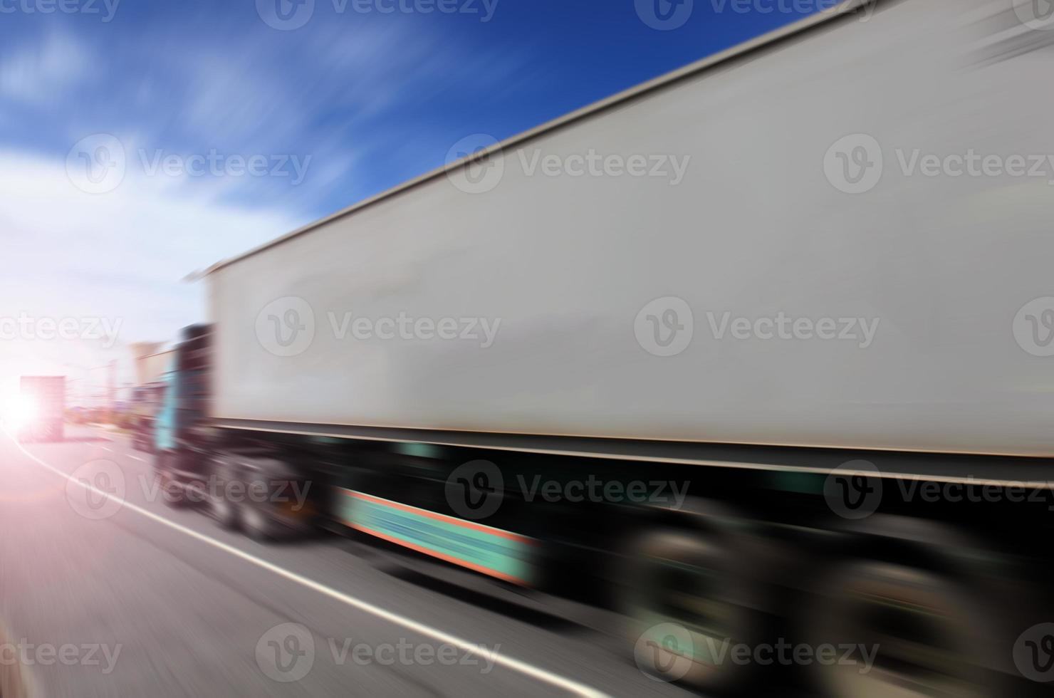 Transport industry concept , big truck containers photo