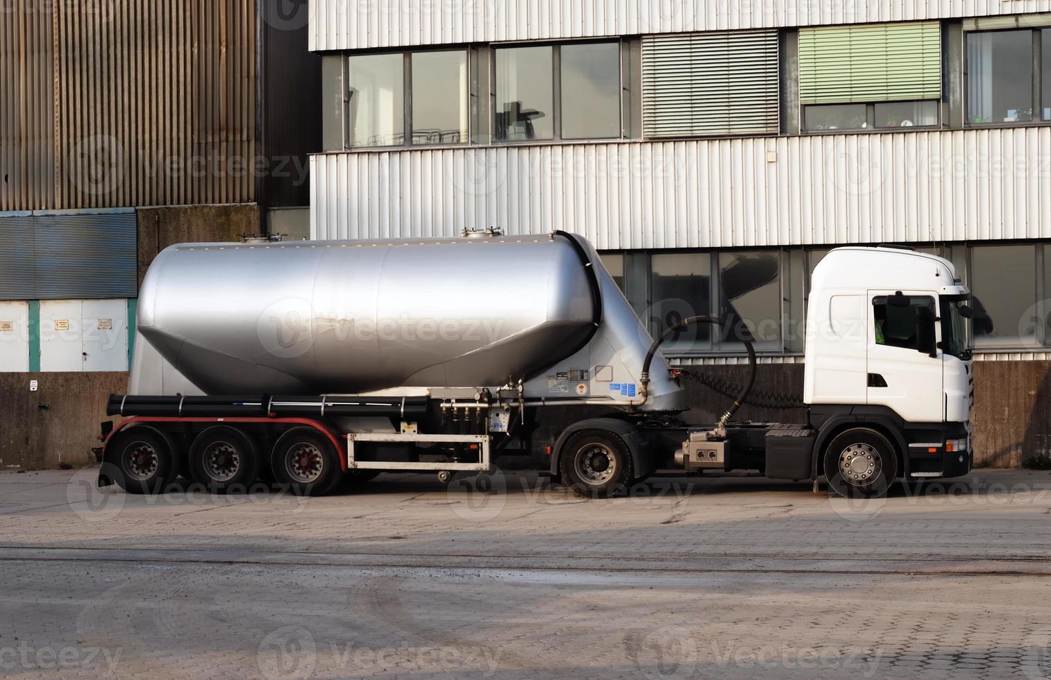 trailer truck blank photo