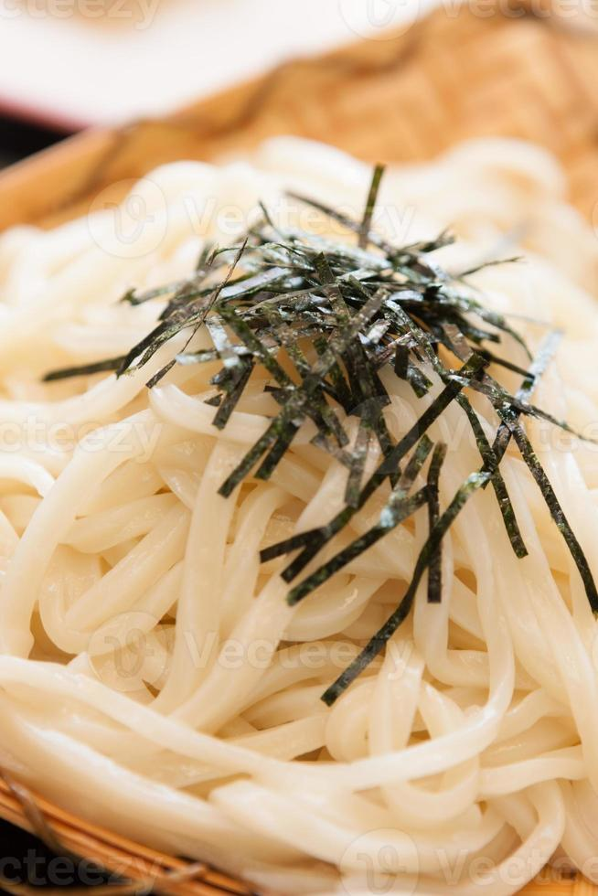 Udon noodles is traditional food of Japan. photo