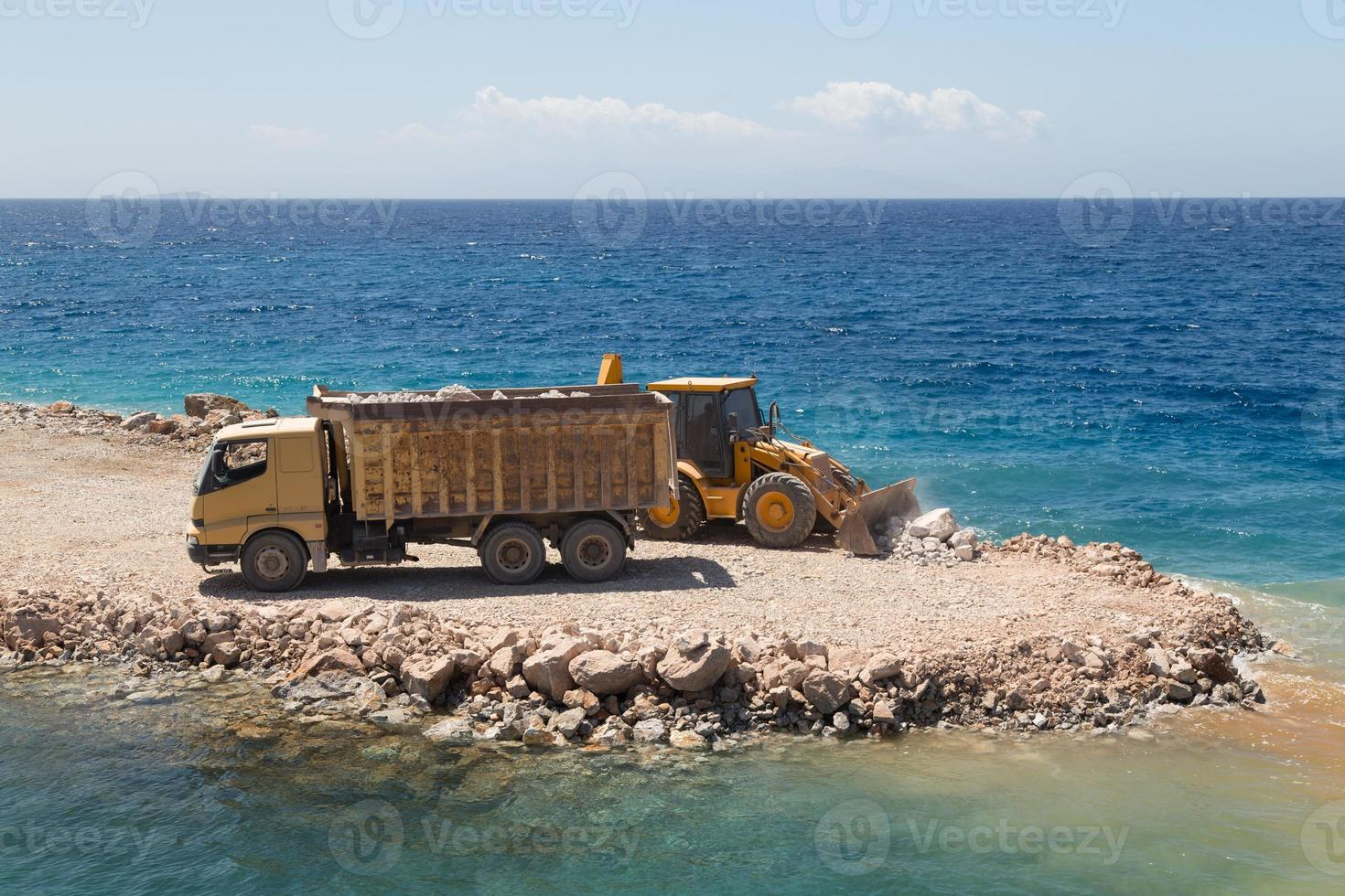 Truck and Digger photo
