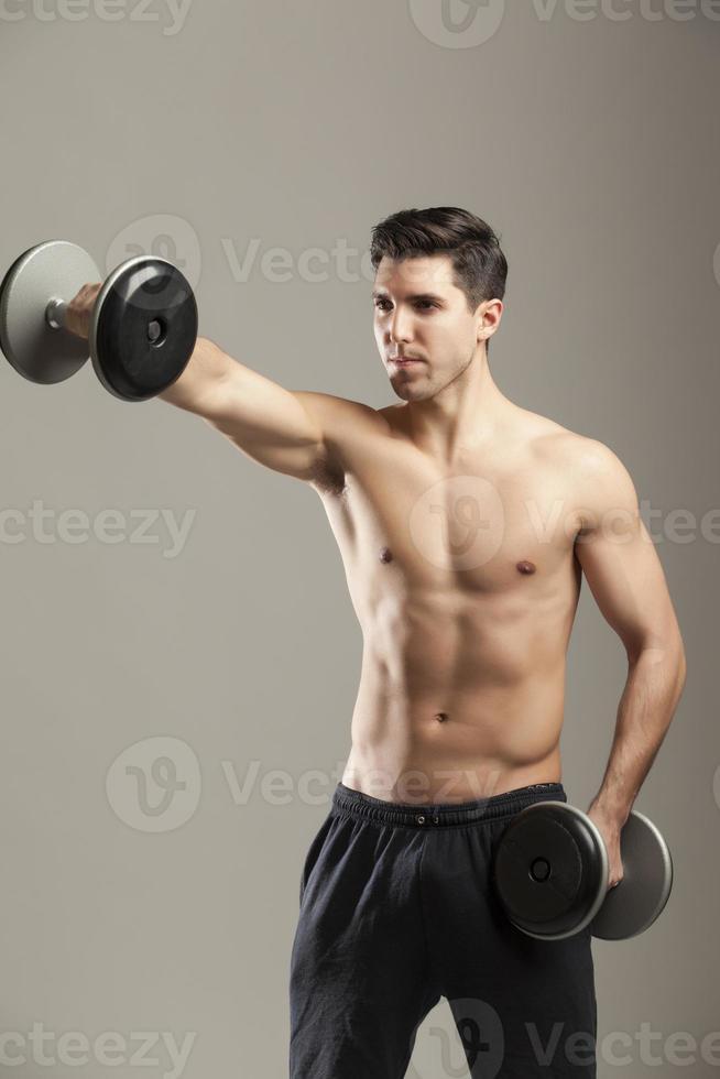 man training photo