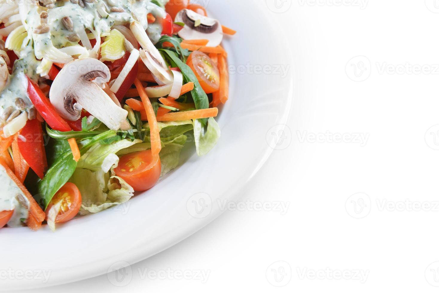 mushrooms salad photo