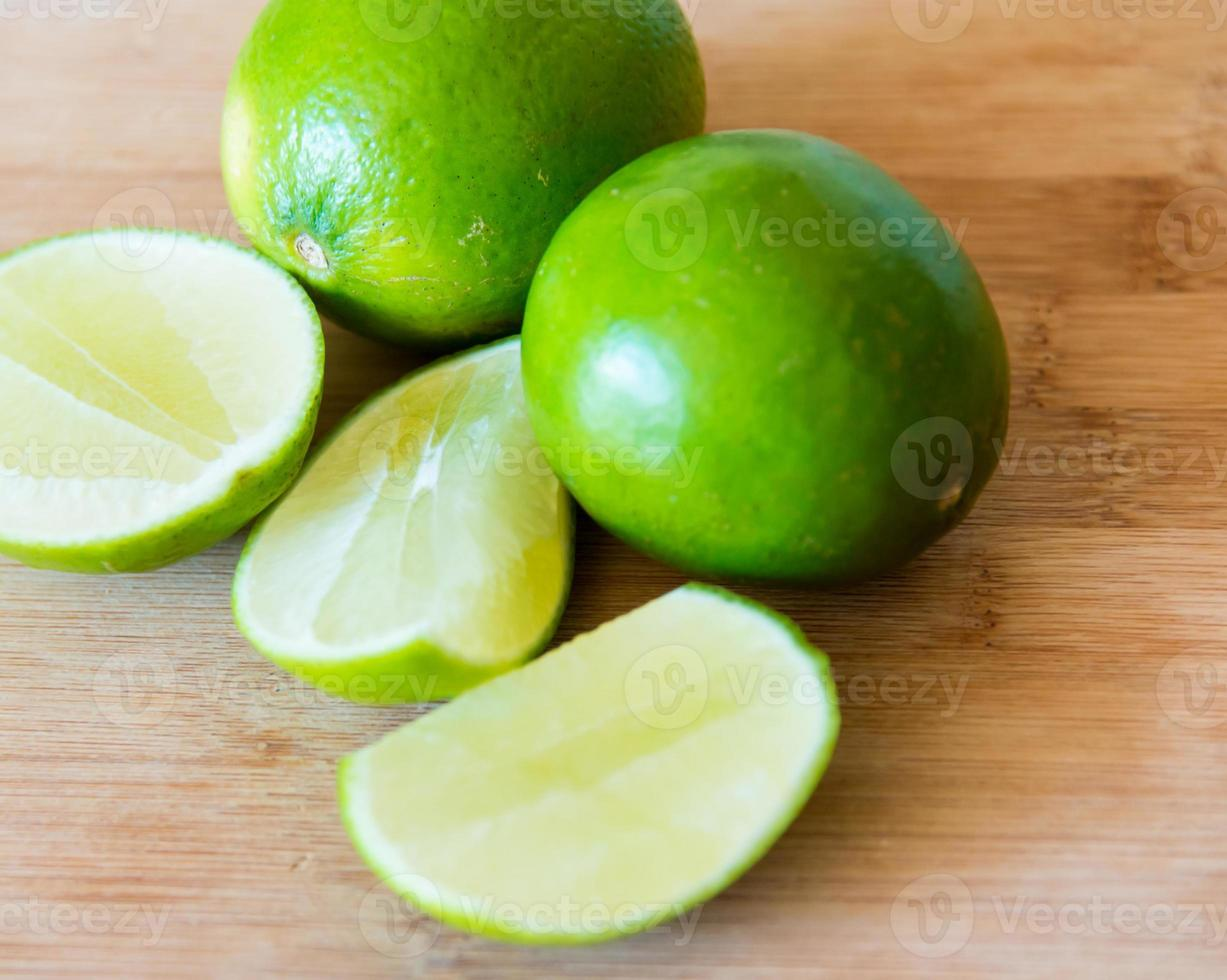 Limes: realistic approach to food ingredients photo