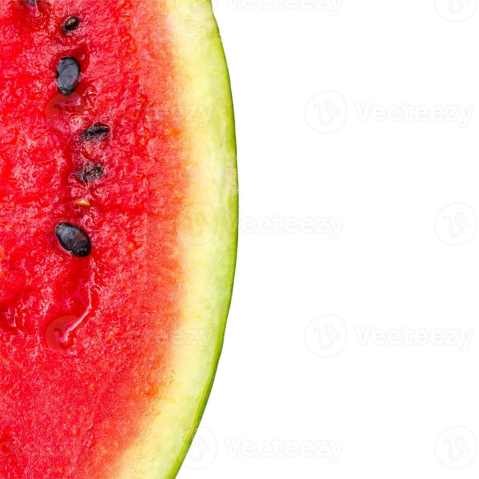 Melon pattern isolated on white background view from the top. photo
