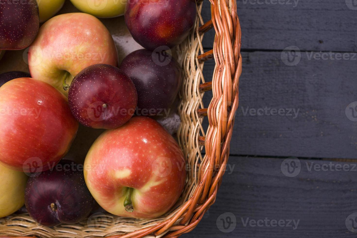Apples and plums photo