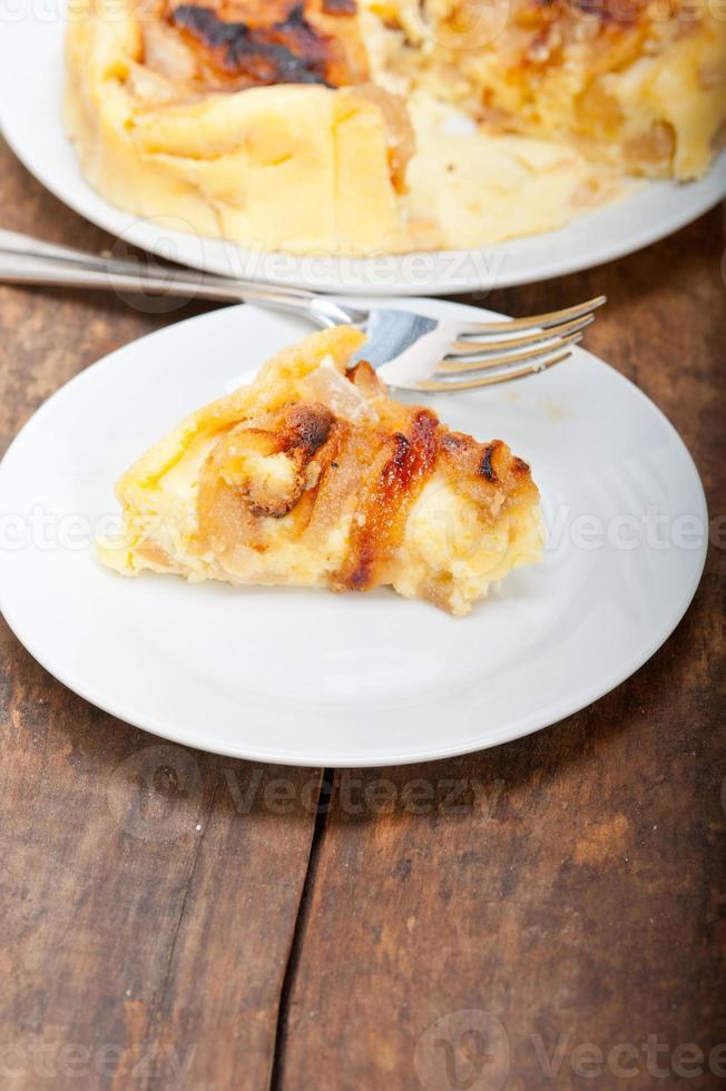 pastel de peras frescas foto